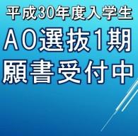 平成30年度専門学校入学試験AO選抜1期願書受付開始